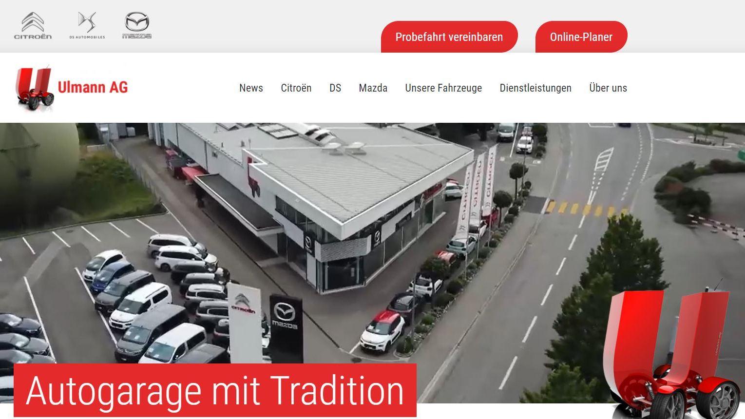 Neuer Internet-Auftritt für die Ulmann AG: Modern, übersichtlich, informativ